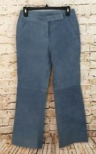 Chadwicks leather pants womens 4 petite blue new boot cut J1