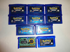original  pokemon sapphire version, game boy advance AUTHENTIC, new save battery