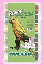 SMART BOX 18 FILI 1000 MT MADEIRA RAYON SCATOLA DA PER RICAMARE MACCHINA CUCITO
