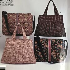 Uncut Bags Purses Simplicity 2750 Easy Messenger Strap Flap Lined One Size