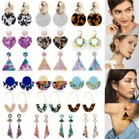 Fashion Acrylic Geometric Dangle Drop Resin Stud Earrings Women Jewellery Gifts