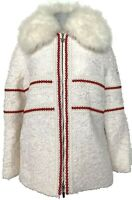 NEW, MONCLER GAMME ROUGE WHITE RUNWAY DOWN FILLED COAT/PARKA, 2, $7500