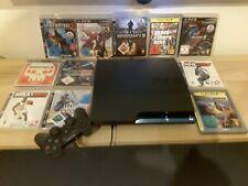 Sony PlayStation 3 Slim 120GB Spielekonsole (PAL) mit 11 Games & Controller