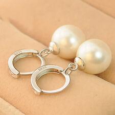 Fashion jewelry women Silver Peal Dangle Ear stud Earrings simple