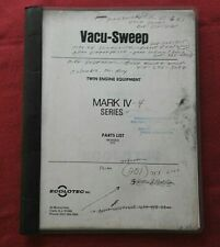 ECOLOTEC MARK IV SERIES VACU-SWEEP STREET SWEEPER BROOM PARTS CATALOG MANUAL