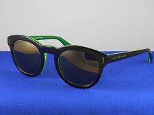 Marc Jacobs Nero Verde Black Green Retro Round Sunglasses + Case MMJ433/S 7ZJVP