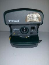Polaroid 600 One Step Express Instant Film Camera w/ Flash Hunter Green & Gray