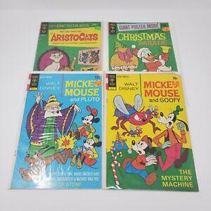 Gold Key Walt Disney Comics ~ Lot of 4 ~ Mickey Mouse Goofy Aristocats Donald