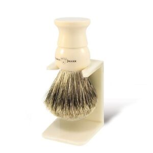 Edwin Jagger Imitation Ivory, Medium, Synthetic Fill Shaving Brush (1EJ287SDS)