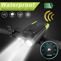 USB Rechargeable LED Bicycle Bright Bike Front Headlight Lamp Waterproof Safety