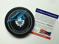 Auston Matthews Signed Toronto Maple Leafs Hockey Puck PSA AE94813