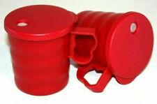 Tupperware Mugs Set of 2 Impressions 12 oz. Cups with Seals for Coffee & Tea Red