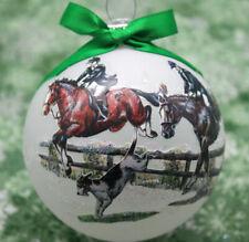 horse black percheron trotting H078 Hand-made Christmas Ornament