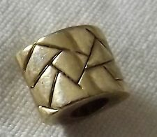 Necklace Bracelet Charm Bead Gold Black Tone Geometric Curved Spacer Shatter