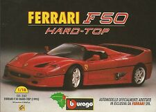 X1231 Ferrari F50 Hard Top - BBURAGO - Pubblicità 1995 - Advertising