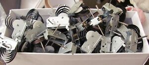 10 x Clockwork motors with keys. NEW (some rust)  Clock work wind up educational