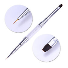 Nail Liner Pen UV Gel Brush Dual-ended Rhinestone Handle Manicure Nail Art Tools