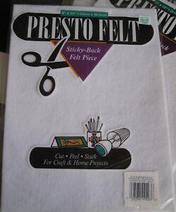 9 PKG Presto Felt in PKG + Bonus White Red Green Sticky Felt for Crafts
