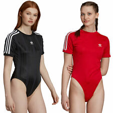 adidas Originals Short Sleeve Body Bodysuit Einteiler Damen 3-Streifen Retro