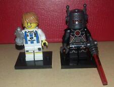 Rare Lego Series 8 minifigures - Football Player and Evil Robot