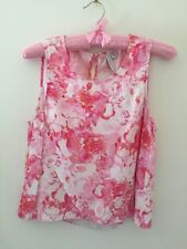 Forever New Asymmetric Wrap Tank Pink Floral Size 8