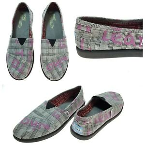 Toms Youth Sz 4.5 Dare to Teach Vegan Slip-on Classic Loafer Flats Pink Shoes