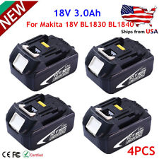 HOT 4PCS 18V 3.0Ah LITHIUM ION BATTERY LXT FOR MAKITA BL1830 US LATEST PACK