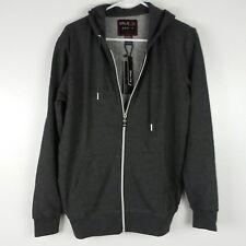 Galaxy by Harvic Mens Hoodie Small Slim Fit Charcoal Full Zipper Sweatshirt Boys