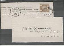 Minibrief 1925 Deutsches Reich Bedarf BERLIN NW gelaufen Glückwünsche Bedarf