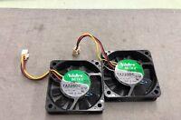 LOT OF 2 Nidec TA225DC R34487-57 G2HPF 5V 0.33A 3pin Cooling Fan