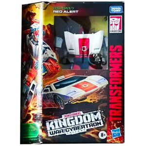 TRANSFORMERS WAR FOR CYBERTRON KINGDOM DELUXE RED ALERT WALGREENS EXC IN HANDS