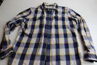 Levis Thick Cotton Plaid Cabin Shirt Large L 16 x 34/35 Slim