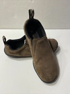 Brown Merrell M Connect Series Suede Slip On Shoes Women's Size 5.5 Vibram