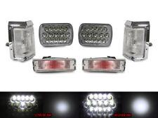 Full LED Hi+Low H6054 7x6 Headlight+ Clear Corner+Bumper For 88-89 Nissan Pickup