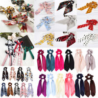 Hair Band Bow Ribbon Hair Rope Ring Ties Elastic Scarf Women Girl Scrunchie