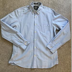 H&M Hemd Shirt - Button Down Denim Hellblau - Gr. M - Top