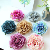 Large White Peony Artificial Flower Heads Silk Rose DIY Wedding Party Decoration