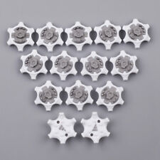 14pcs Golf Spikes Pins 1/4 Turn For Footjoy Fast Twist Sports Shoes White Gray