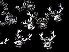 10 Pcs -  Tibetan Silver Reindeer Charms Xmas Pendant Festive Christmas Z174
