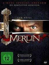 MERLIN - DIE COMPLETA SERIE TV Rutger Hauer SAM NEILL 4 Box DVD Collezione Nuovo