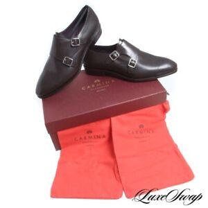 NIB #1 MENSWEAR Carmina Mallorca 80281 Brown Inca Double Monk Shoes NR 7.5 #R73