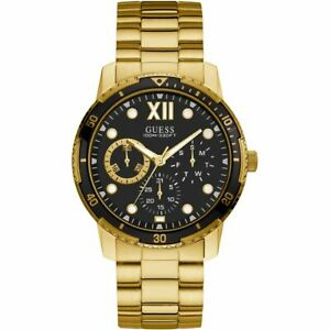 AUTHENTIC GUESS WATCH MEN'S OPTIMUM W1173G3 GOLD BRAND NEW RRP: $449.95