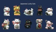 AMAZING MINIATURE PORCELAIN, LUCKY CAT WITH GOLD TRIM COLLECTION SET *AMAZING*