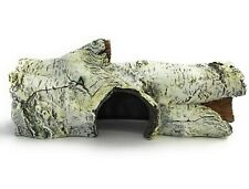 New listing Reptile Hideout Birch Log Polyresin Décor