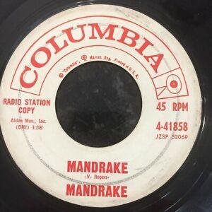 HEAR TITTYSHAKER INSTRO - MANDRAKE - MANDRAKE/WITCH'S TWIST - COLUMBIA 45