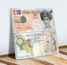 BANKSY MONEY TENNER DIANA CANVAS WALL ART PICTURE PRINT ARTWORK SQUARE TRUST XL