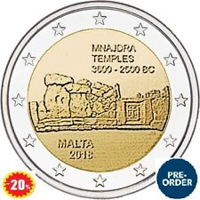2018 Malta MNAJDRA Temple Pre-Historic Uncirculated 2 Euro Coin PRESALE