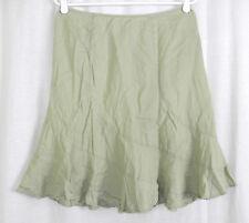 Old Navy 100% Linen Soft Mint Green Twirl Flare Skirt 2 (30W x 22L)