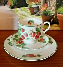 Roy Kirkham China Fruit Garden Strawberry Tea/Coffee Set Trio