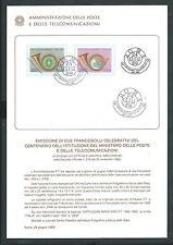 1989 ITALIA BOLLETTINO ILLUSTRATIVO N. 12 MINISTERO DELLE POSTE